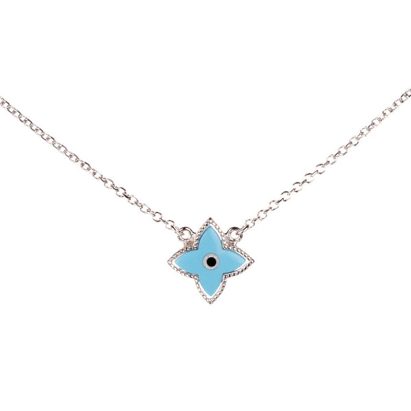Symbolic Evil Eye Silver Necklace | Vamp London Jewellery