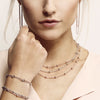 Vamp Chic Rio Beaded Collar Rose Gold Necklace