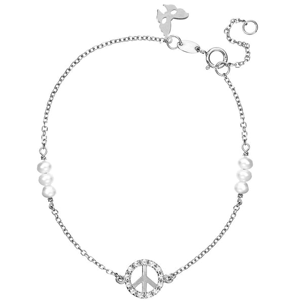 Symbolic Peace Silver Bracelet | Vamp London Jewellery