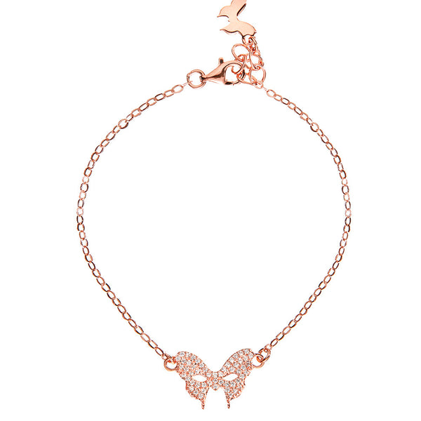 Masquerade CZ Vamp Mask Rose Gold Bracelet - Vamp London