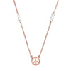 Symbolic Peace Rose Gold Necklace - Vamp London