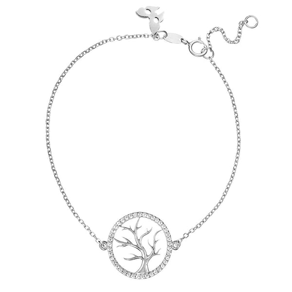 Symbolic Tree of Life Silver Bracelet - Vamp London