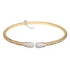 Entwined CZ Ends Yellow Gold Bracelet - Vamp London