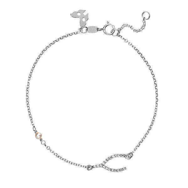 Symbolic Wish Bone Silver Bracelet - Vamp London