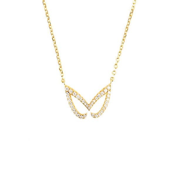 Hidden Mask Unmasked Yellow Gold Necklace - Vamp London