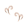 Rose Gold Double Spike Earrings | Vamp London Jewellery