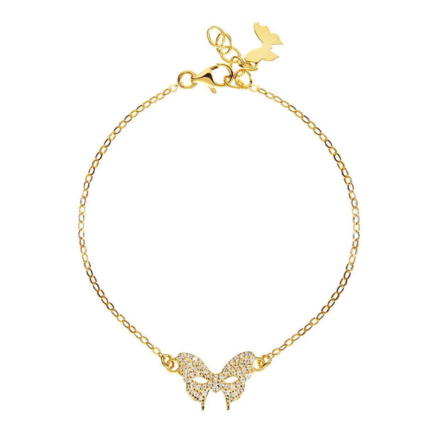 Masquerade CZ Vamp Mask Yellow Gold Bracelet - Vamp London