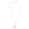 Hidden Mask Tear Drop Yellow Gold Necklace - Vamp London