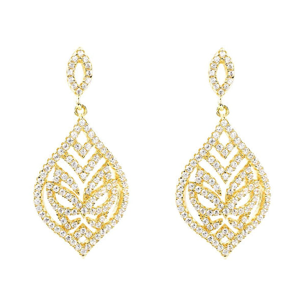 Yellow Gold Tear Drop Earrings | Vamp London Jewellery