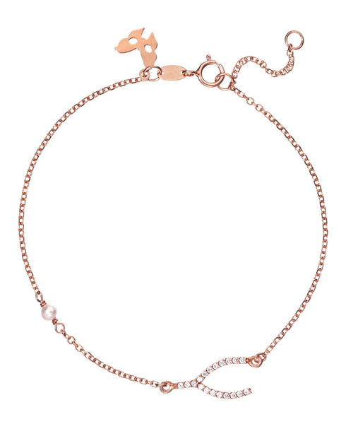 Rose Gold Wish Bracelet | Vamp London Jewellery