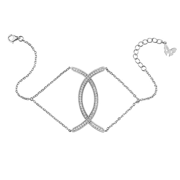 Silver Curve Bracelet | Vamp London Jewellery