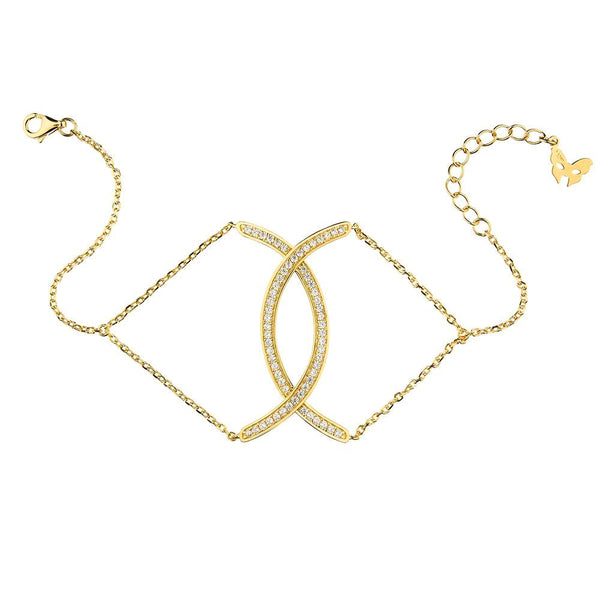 Yellow Gold Curve Bracelet | Vamp London Jewellery