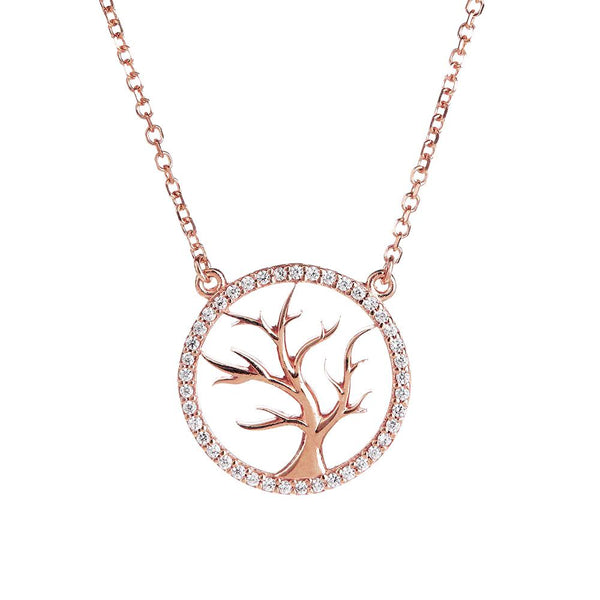 Rose Gold Tree of Life Necklace | Vamp London Jewellery
