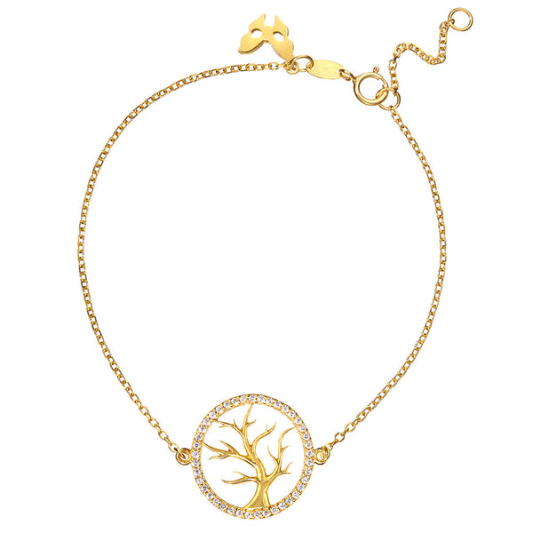 Symbolic Tree of Life Yellow Gold Bracelet - Vamp London