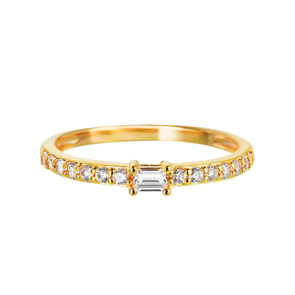 Yellow Gold Band Ring | Vamp London Jewellery