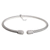 Entwined CZ Ends Silver Bracelet - Vamp London