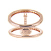 Rose Gold Bar Ring | Vamp London Jewellery