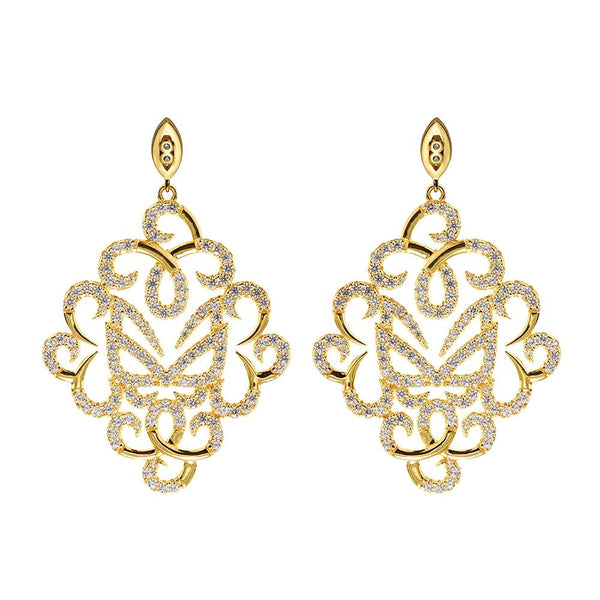 Yellow Gold Fancy Earrings | Vamp London Jewellery