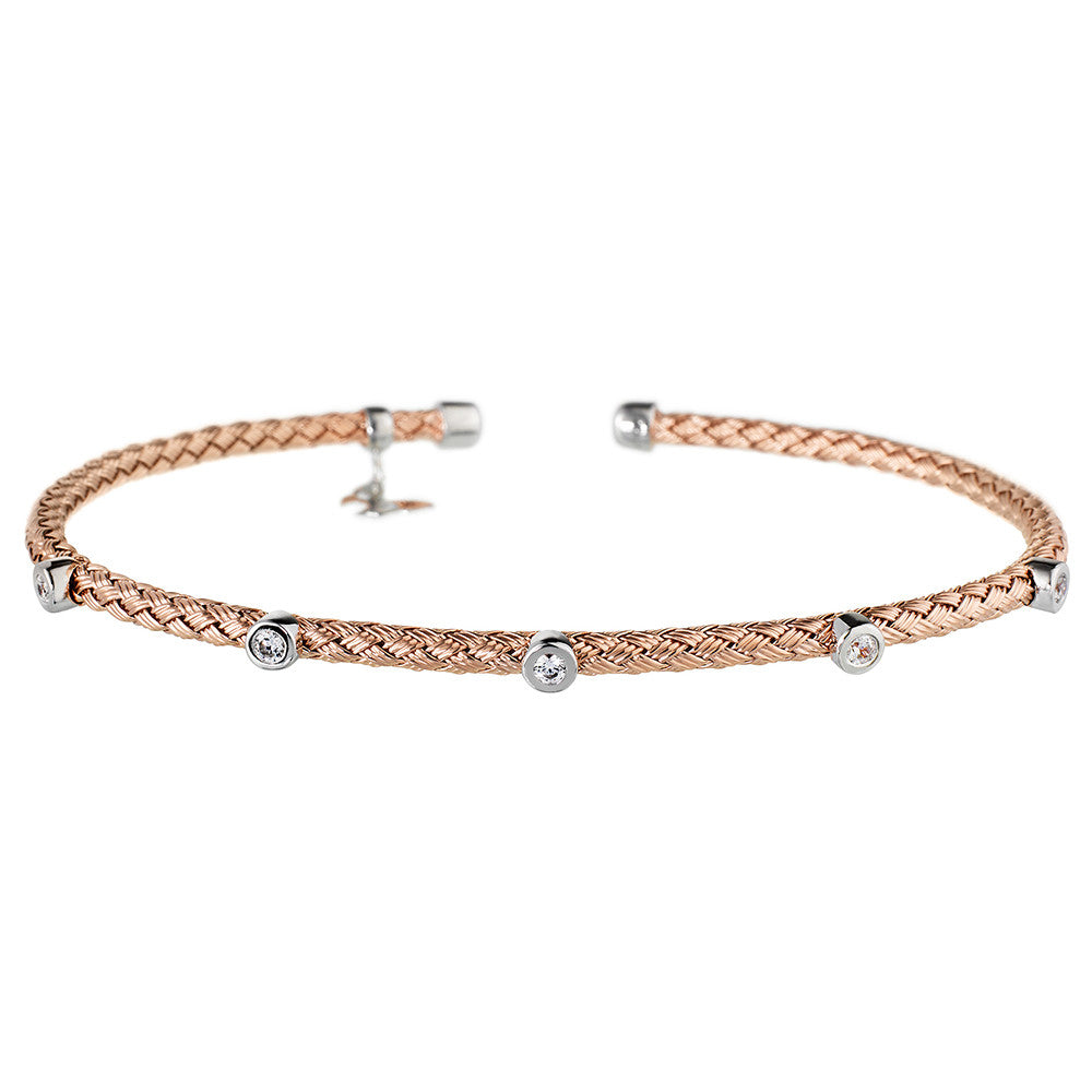 Rose Gold Bracelet 5 CZ | Vamp London Jewellery
