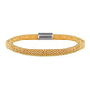 Mesh Bold Yellow Gold Bracelet - Vamp London