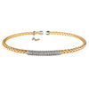 Yellow Gold Bar Bracelet | Vamp London Jewellery
