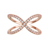 Rose Gold Crossover Ring | Vamp London Jewellery