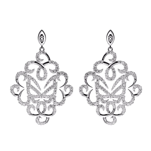 Hidden Mask Fancy Silver Earrings - Vamp London