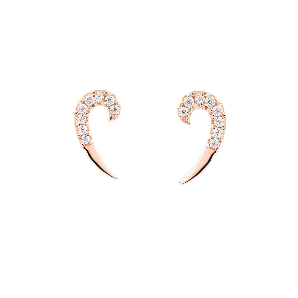 Rose Gold Spike Earrings | Vamp London Jewellery
