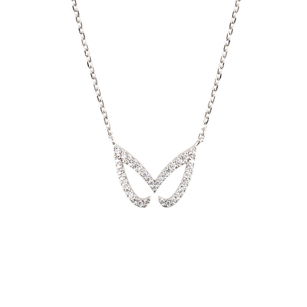 Hidden Mask Unmasked Silver Necklace - Vamp London