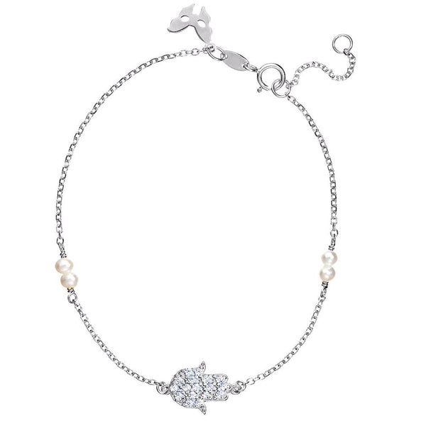 Silver Hamsa Bracelet | Vamp London Jewellery