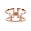 Rose Gold H Ring | Vamp London Jewellery