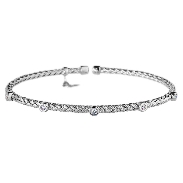 Silver Bracelet 5 CZ | Vamp London Jewellery