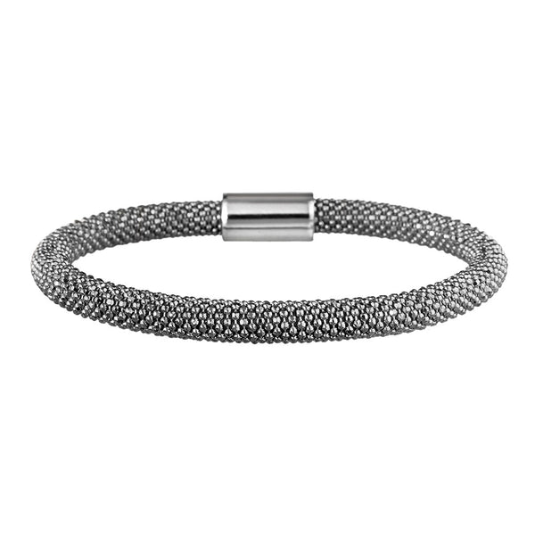 Mesh Bold Oxidised Bracelet - Vamp London