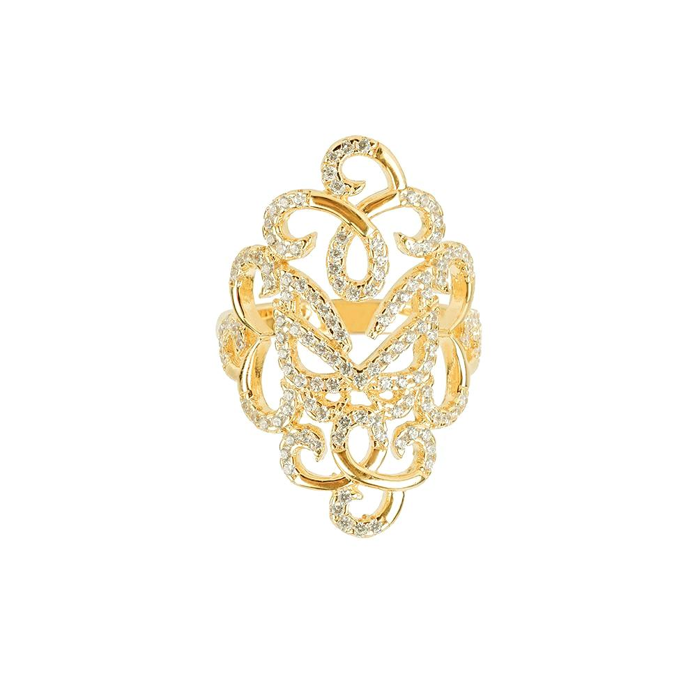 Yellow Gold Fancy Ring | Vamp London Jewellery