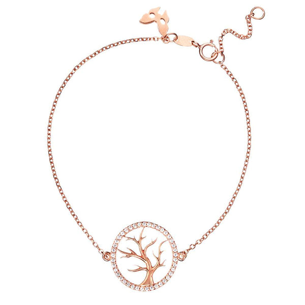 Symbolic Tree of Life Rose Gold Bracelet - Vamp London