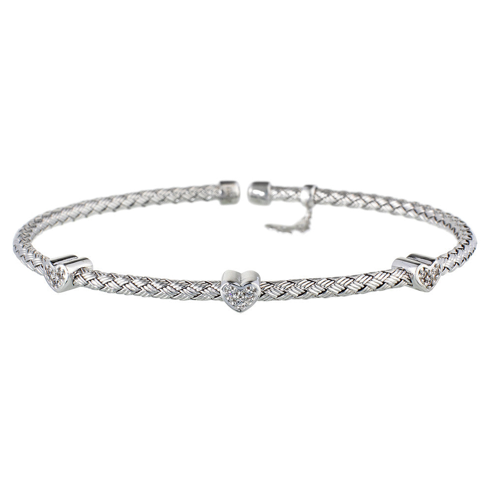 Silver Hearts Bracelet | Vamp London Jewellery