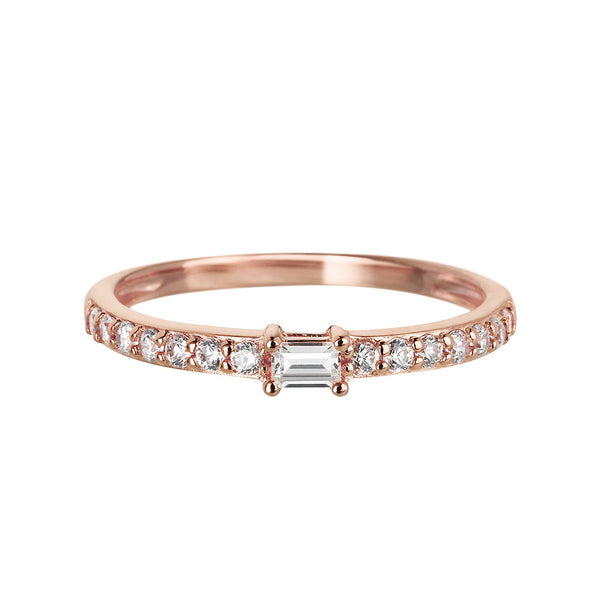 Sahara Band Ring in Rose Gold - Vamp London