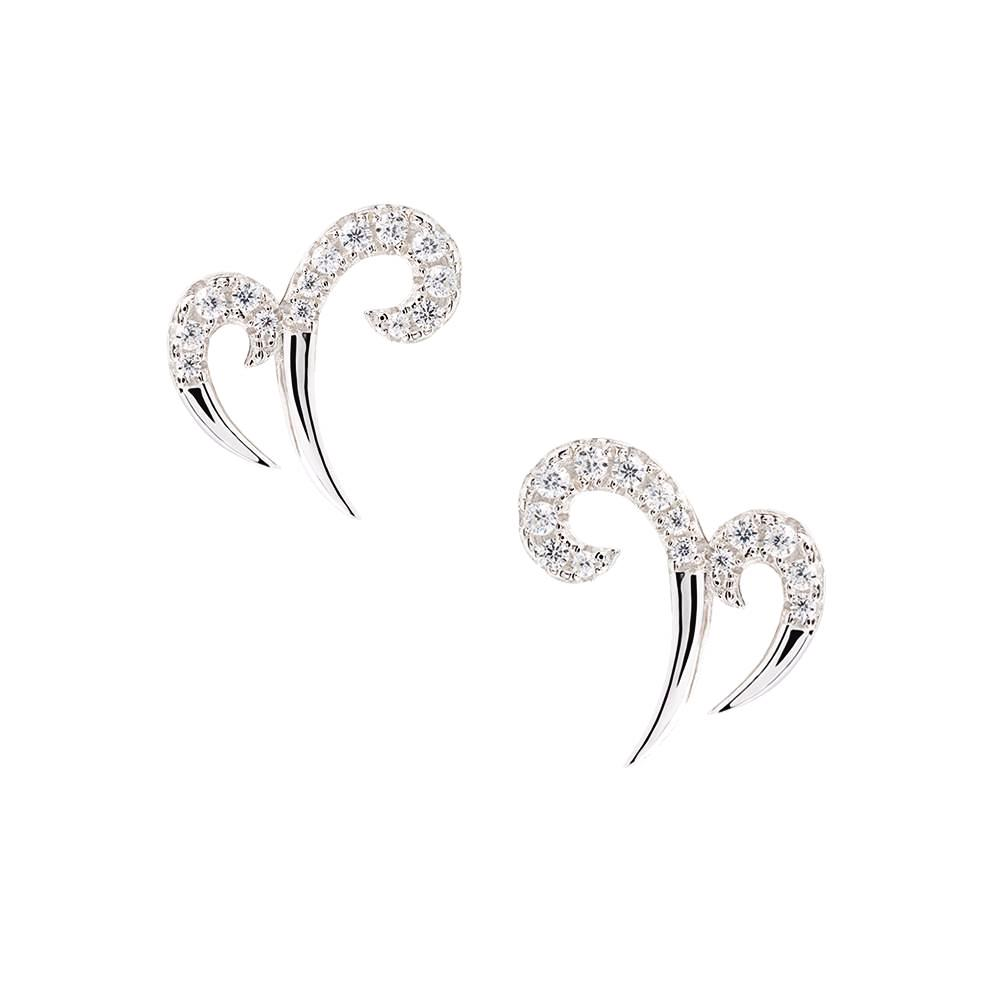 Silver Double Spike Earrings | Vamp London Jewellery