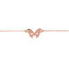 Masquerade Plain Vamp Mask Rose Gold Bracelet - Vamp London