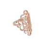 Hidden Mask Fancy Rose Gold Ring - Vamp London