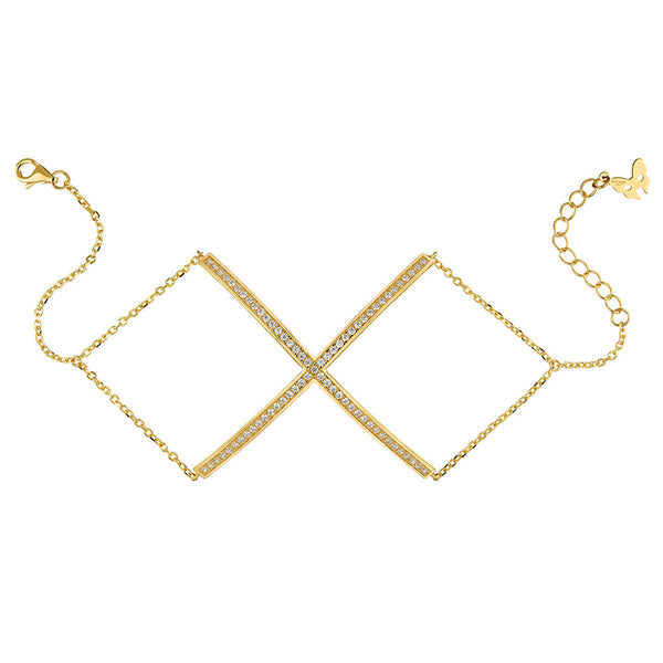 Yellow Gold X Bracelet | Vamp London Jewellery