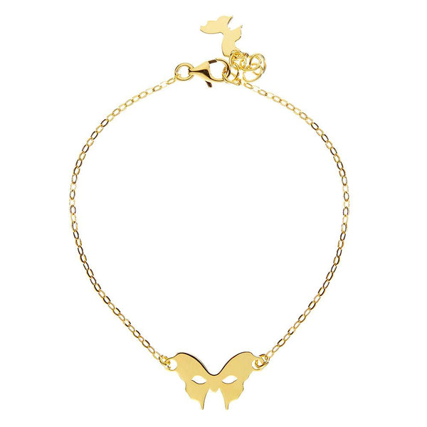 Masquerade Plain Vamp Mask Yellow Gold Bracelet - Vamp London