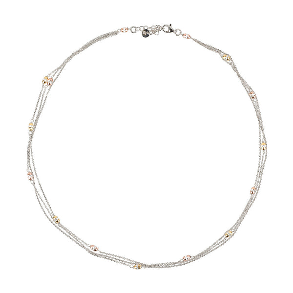 Vamp Chic Triple Row Necklace - Vamp London