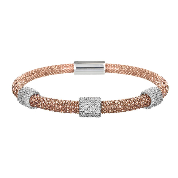 Rose Gold Bracelet 3 Clusters | Vamp London Jewellery