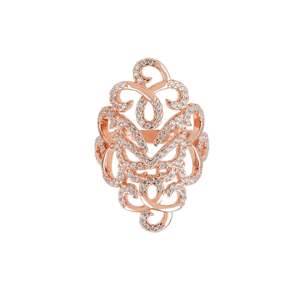 Rose Gold Fancy Ring | Vamp London Jewellery