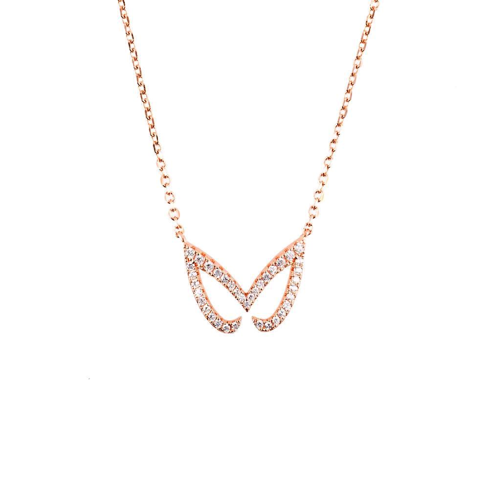 Hidden Mask Unmasked Rose Gold Necklace - Vamp London