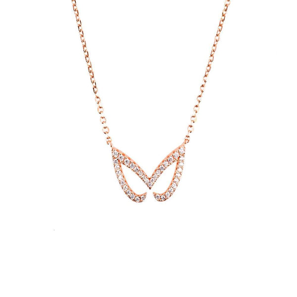 Rose Gold Unmasked Necklace | Vamp London Jewellery