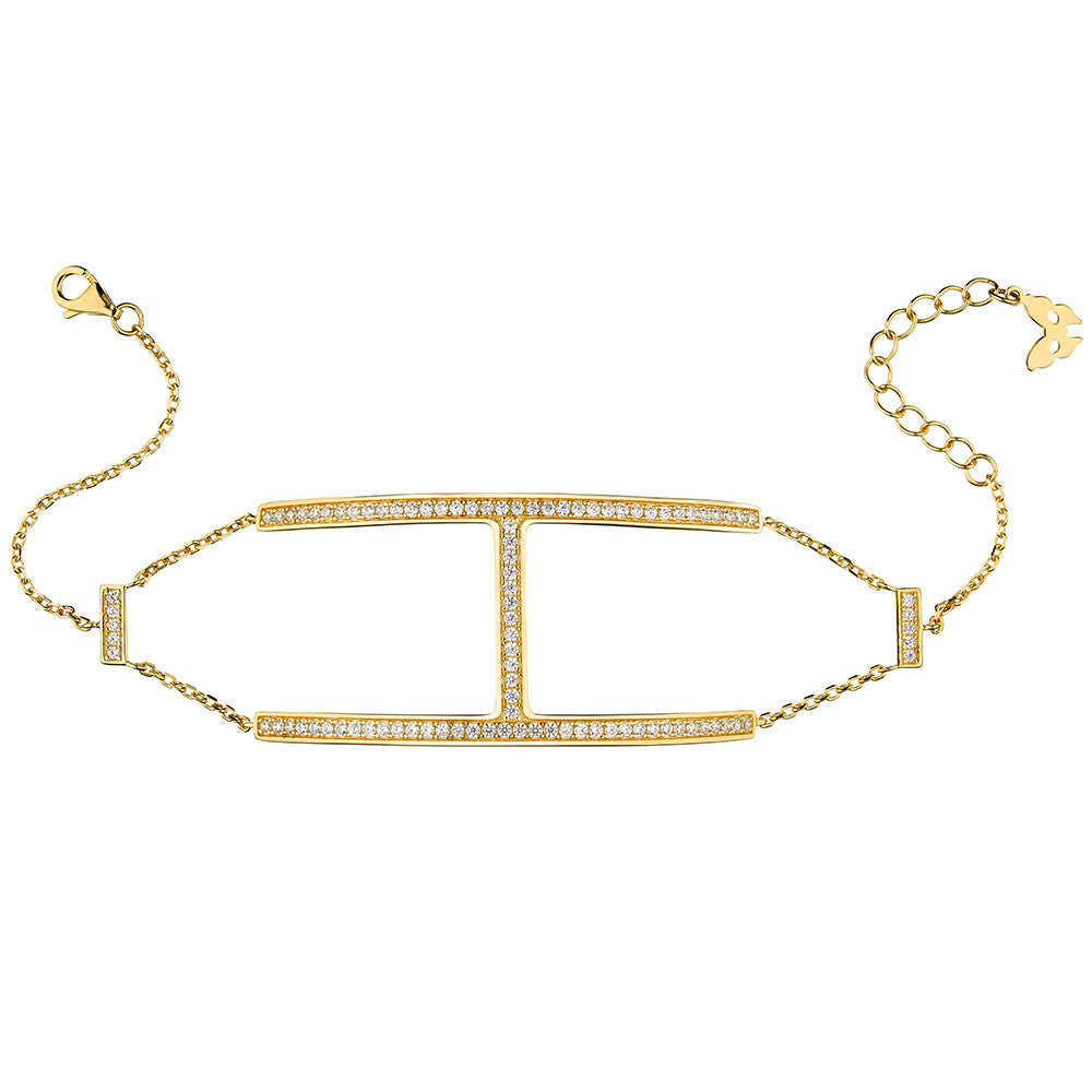 Yellow Gold H Bracelet | Vamp London Jewellery