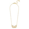 Masquerade Resille Yellow Gold Necklace - Vamp London