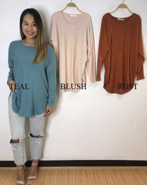 Suzy knit Long Sleeve- Rust